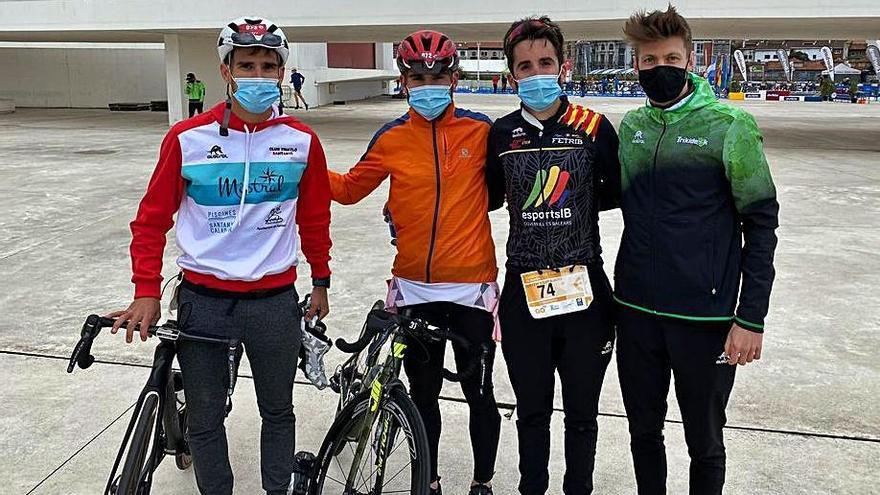 Xisca Tous roza el podio en el Nacional de duatlón de Avilés