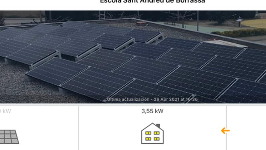 Un 41% de l'energia consumida per l'escola de Borrassà ha sortit de les plaques solars