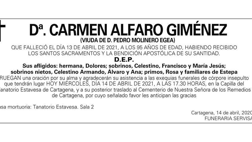 Dª Carmen Alfaro Giménez