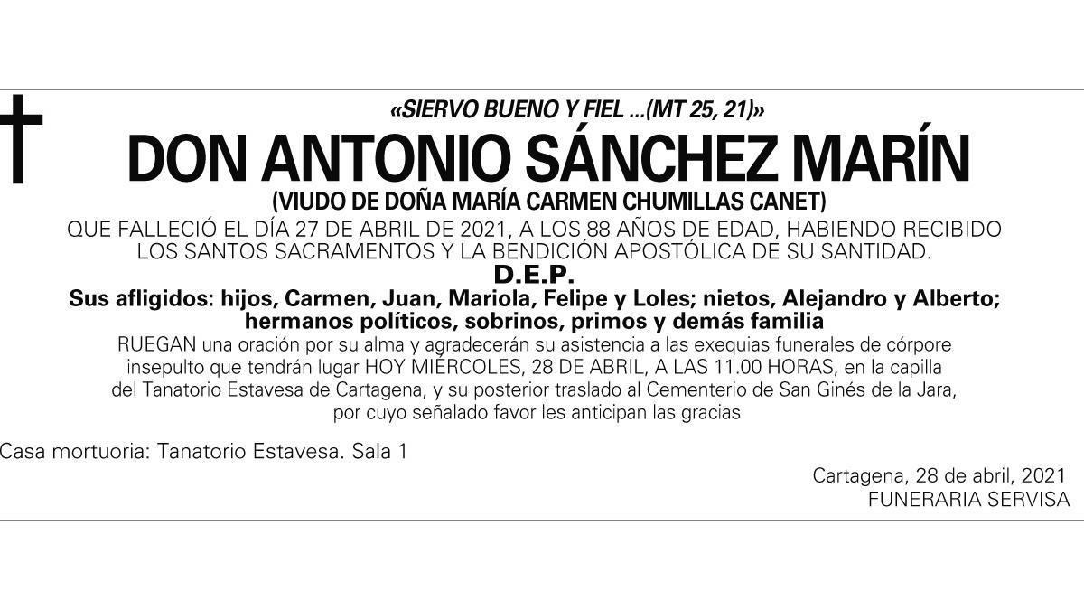 D. Antonio Sánchez Marín