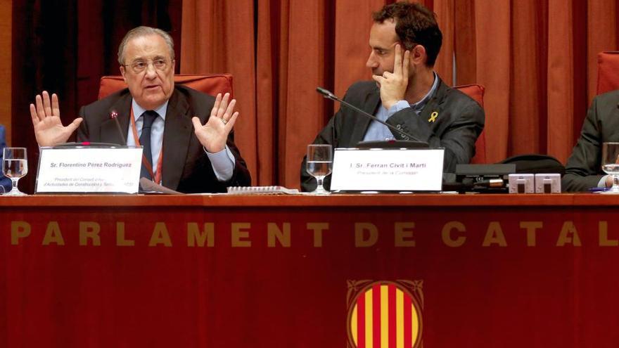 """Florentino Pérez sobre el Castor: """"No he intervenido en nada. Poco les puedo ayudar"""""""