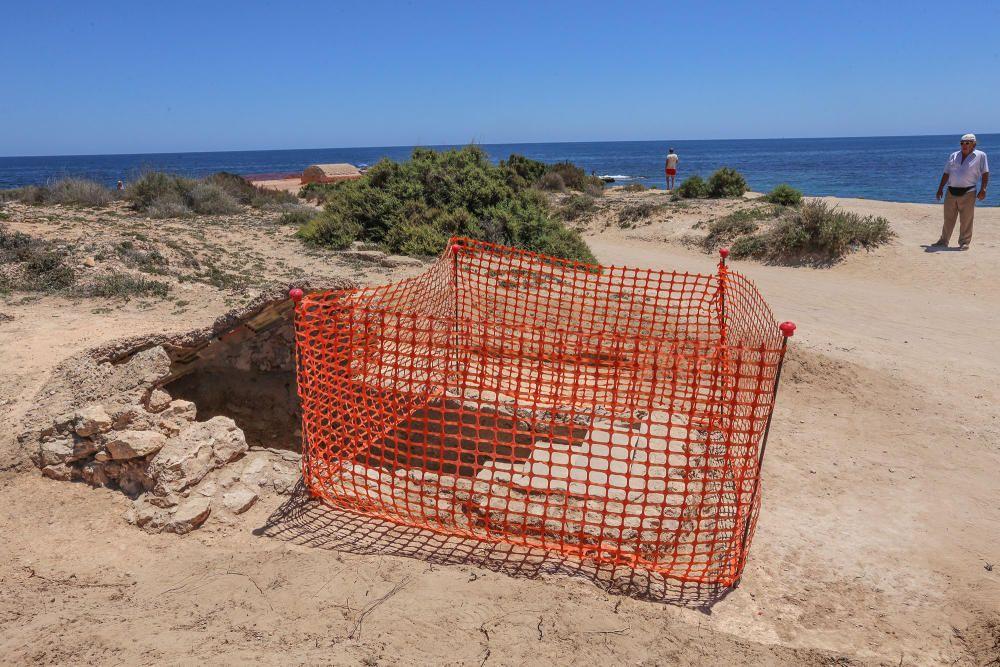 Una promotora asume el coste de la excavación arqueológica y proyecto museográfico del cuartel de carabineros y refugio subterráneo de la Guerra Civil en Punta Prima
