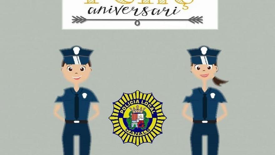 La Policía Local de Canals se ofrece a preparar cumpleaños sorpresa