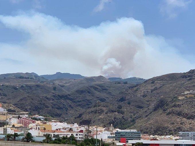 Incendio en la cumbre de Gran Canaria