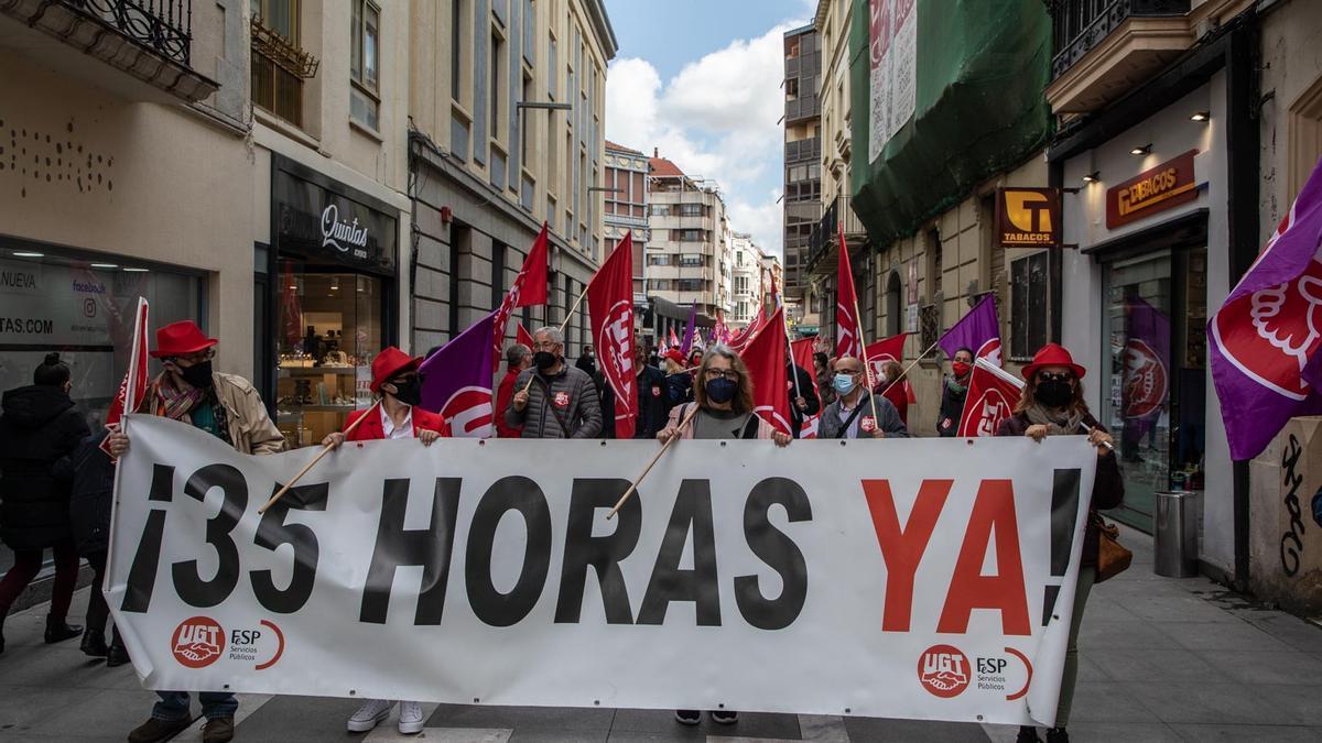 Manifestación por el Día del Trabajador en Zamora en una imagen de archivo.