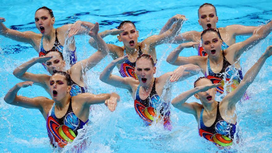 España acaba séptima y Rusia prologa su reinado en la natación artística