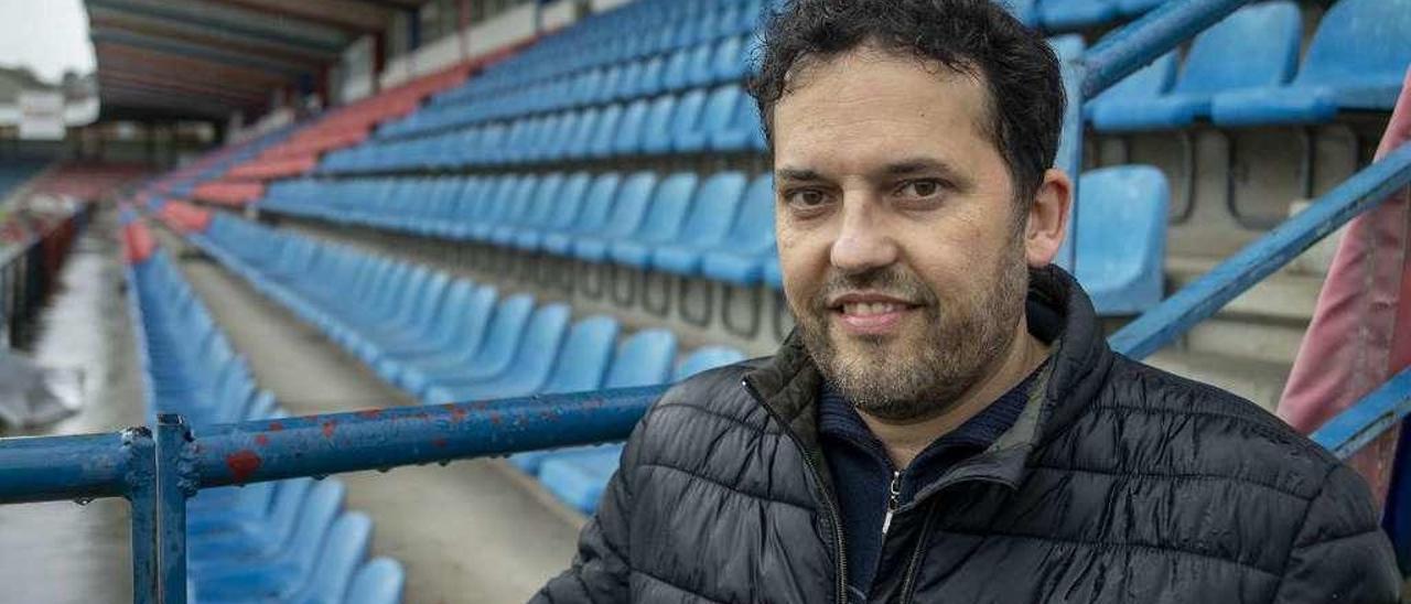 Jorge Paz é un dos socios fundadores da Unión Deportiva Ourense. // Carlos Peteiro