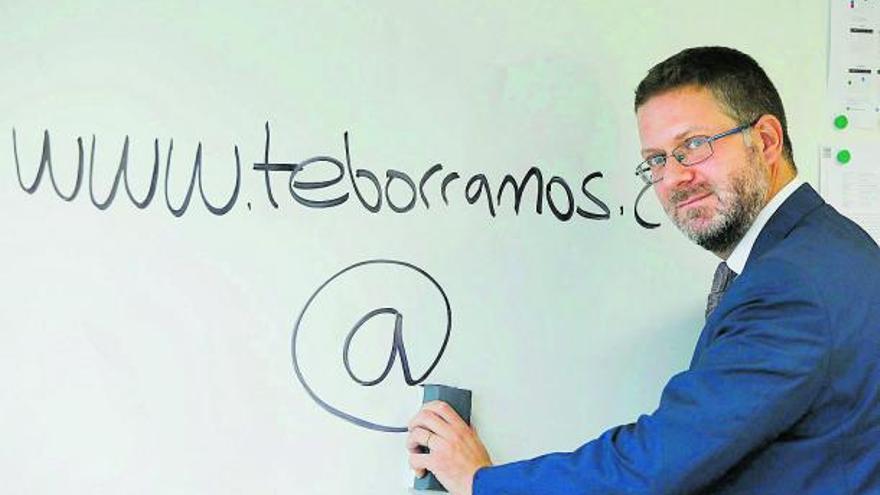 Javier Franch,  en una imagen captada  el miércoles.  m.a.montesinos
