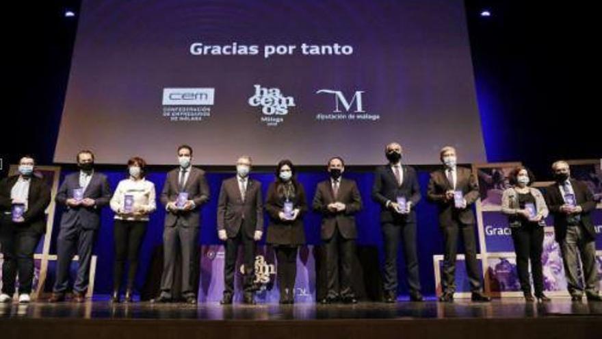 'Hacemos Málaga' premia a instituciones y colectivos en su lucha contra el Covid