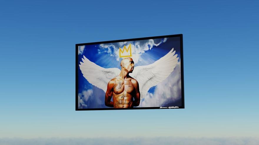 El artista René Mäkelä rinde homenaje al rapero Tupac Shakur