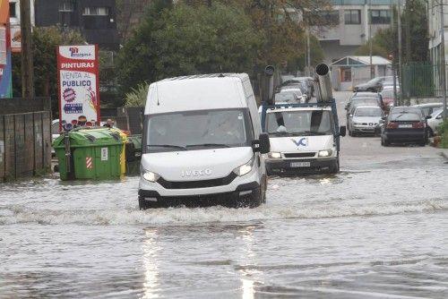 El temporal en Vigo