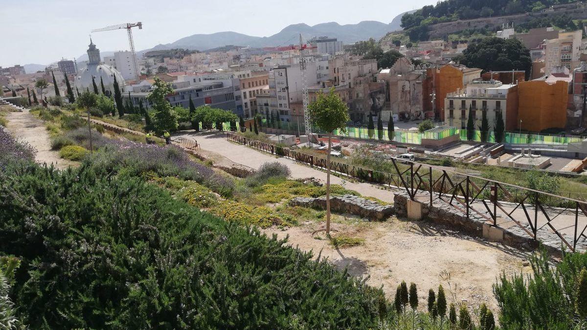 Nueva decoración floral en el cerro de El Molinete