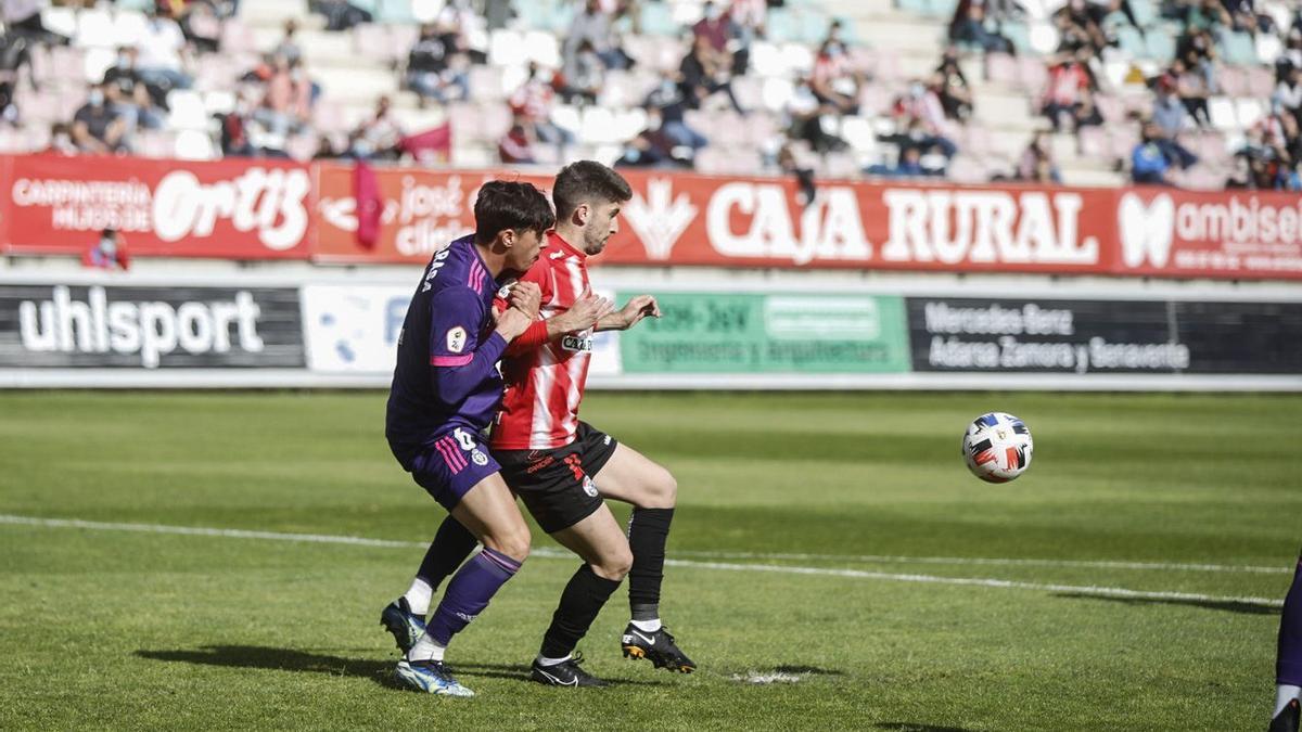 Un instante del Zamora CF - Valladolid Promesas.