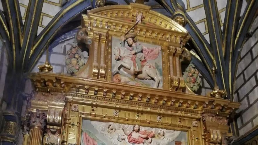 Retablo de la conversión de San Pablo.