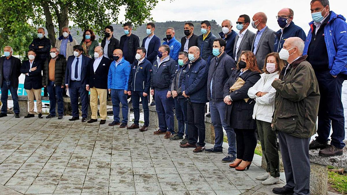 Imagen de la presentación de la prueba en el embalse de Castrelo do Miño. // FDV