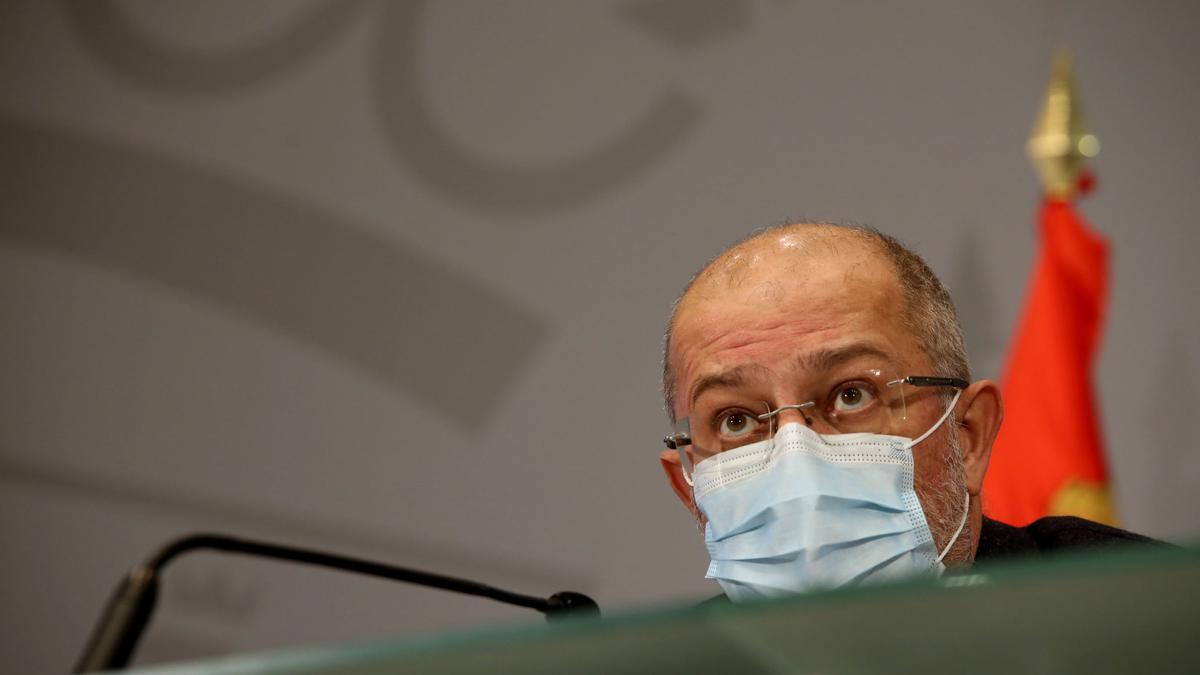 El vicepresidente de Castilla y León, Francisco Igea, comparece en rueda de prensa telemática.