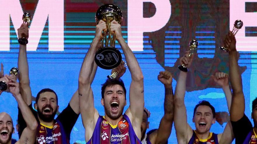 El Barcelona celebra su victoria ante el Real Madrid en la Copa del Rey