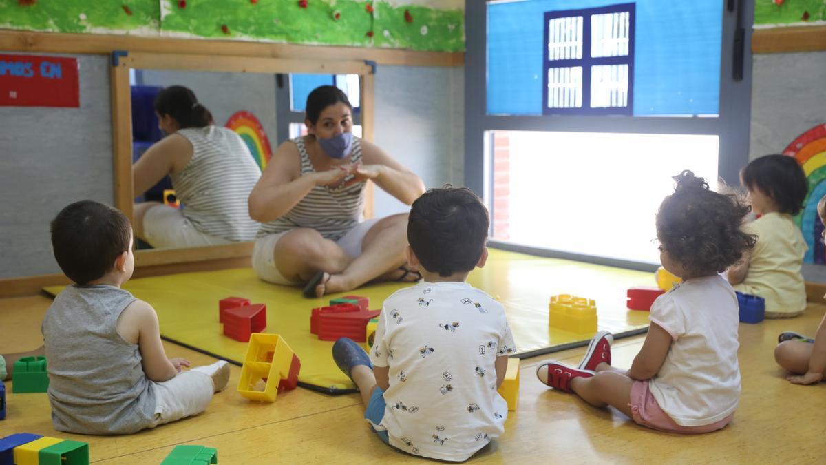 Alumnos en una escuela infantil.