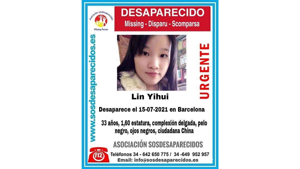 Lin Yihui, desaparecida.