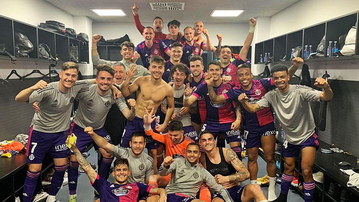 El Valladolid Promesas tras ganar el pasado domingo al Celta B. / RV