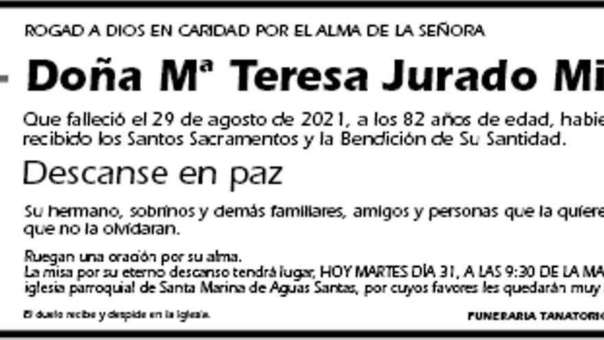 Mª Teresa Jurado Millán