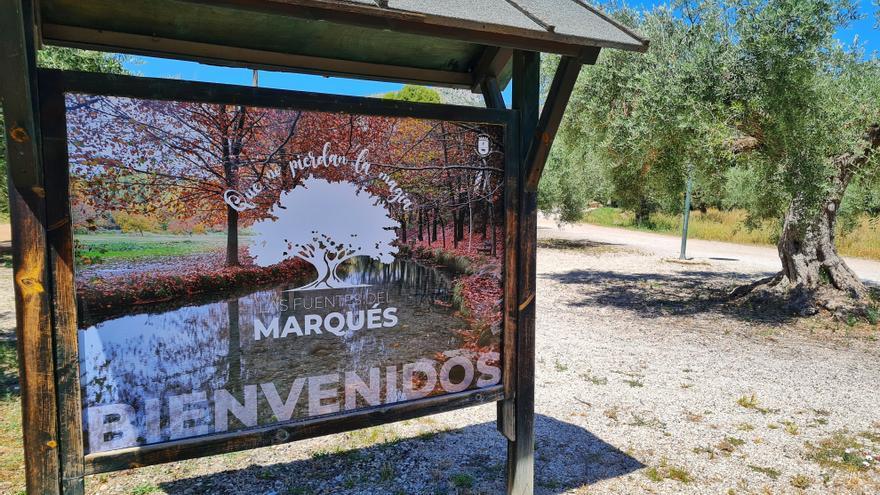 El Ayuntamiento de Caravaca renueva señalización de las Fuentes del Marqués