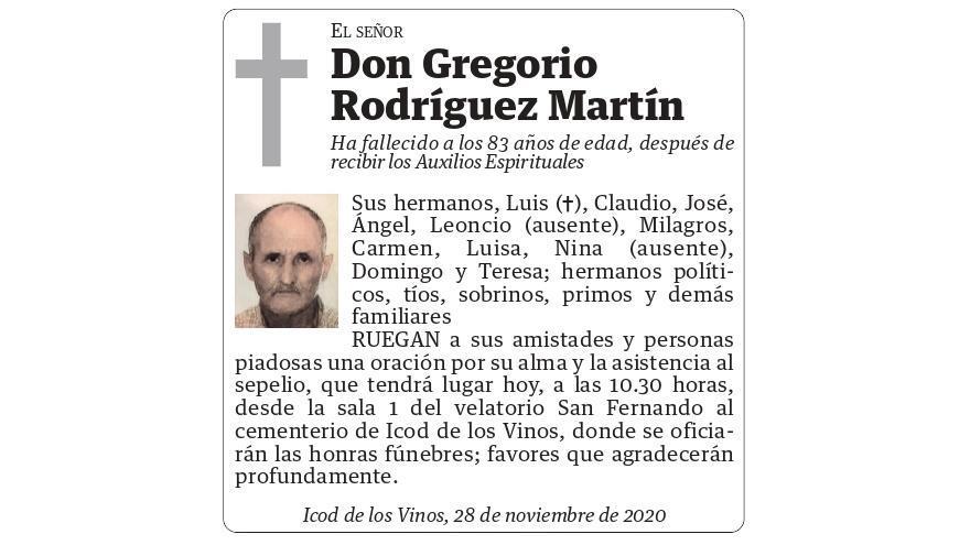 Gregorio Rodríguez Martín