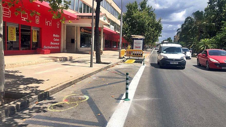 CAEB critica duramente el nuevo carril bici de la calle Aragón