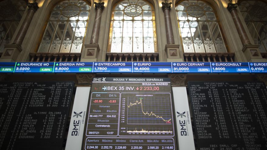 El Ibex 35 cierra con una retroceso del 1,52% y cae a mínimos de abril