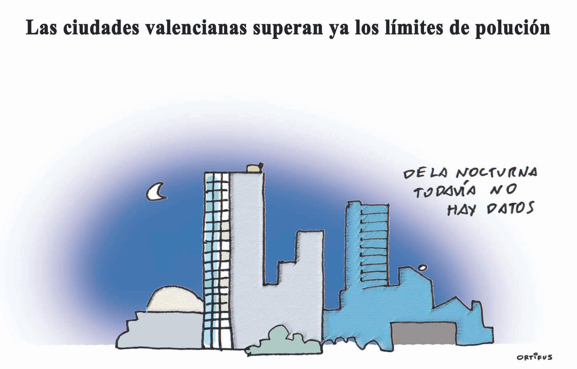 Las ciudades valencianas superan ya los límites de polución
