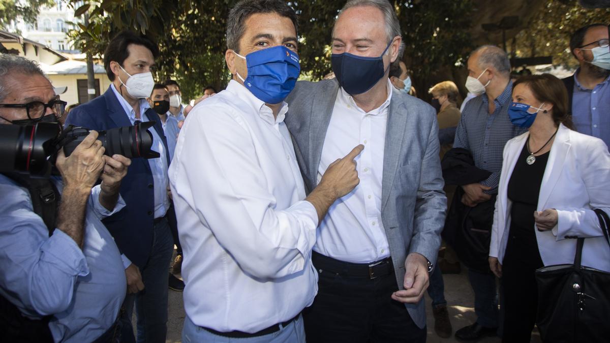 Carlos Mazón, previsible futuro presidente del PPCV, junto al senador castellonense Alberto Fabra.