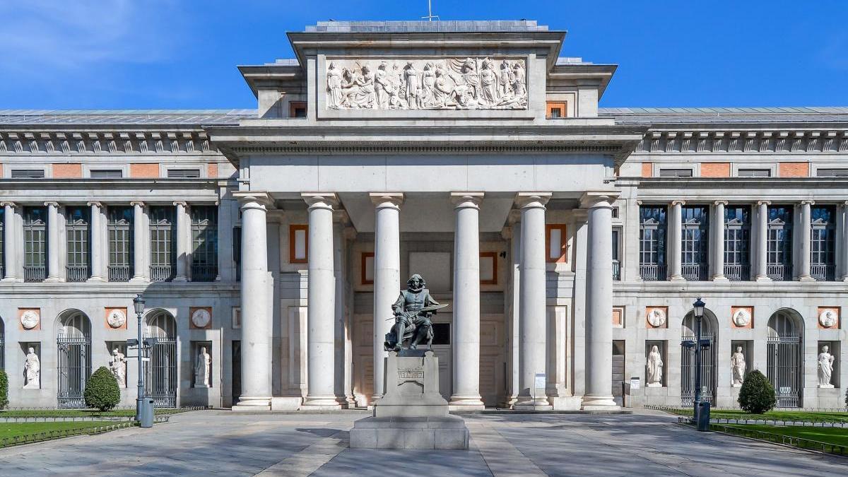 La entrada del Museo del Prado.