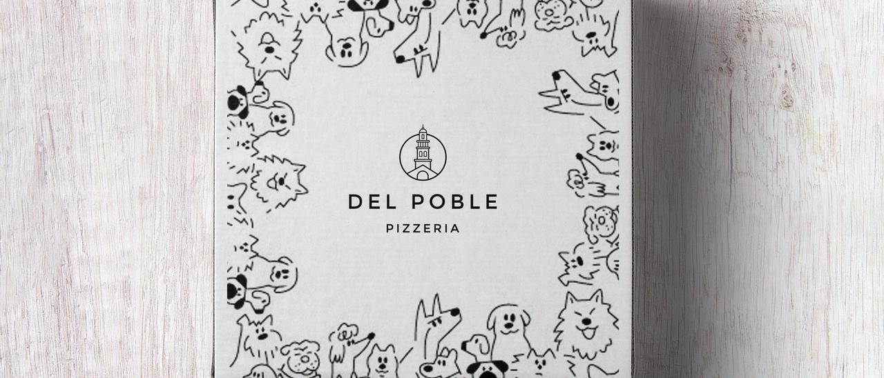 La empresa valenciana Del Poble lanza una caja solidaria en favor de las protectoras de animales para transportar sus pizzas durante las fiestas navideñas