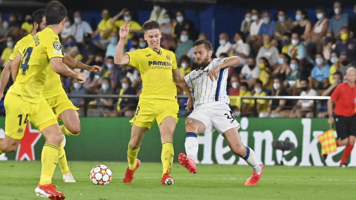 Juan Foyth ha sido uno de los jugadore más activos del Villarreal ante el Atalanta.