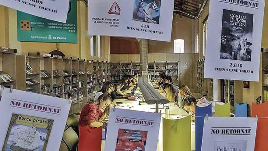 La biblioteca Josep Maria Llompart de Palma busca un millar de libros prestados