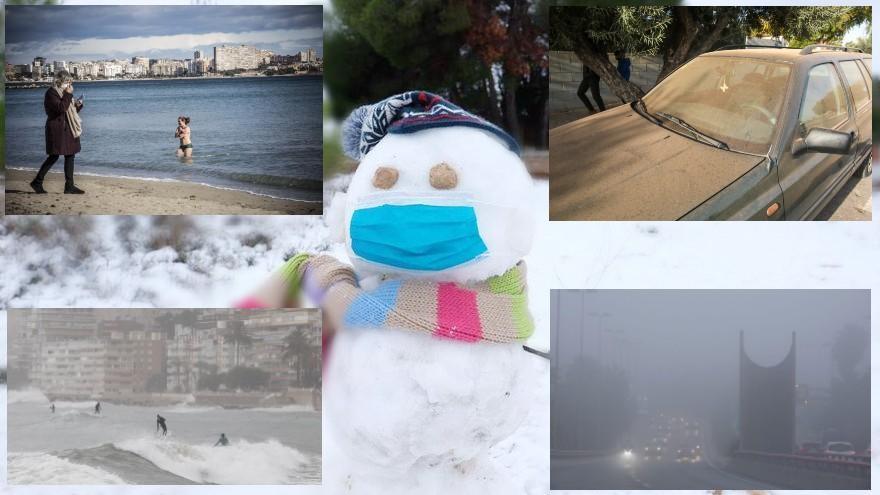 La nieve vuelve a las cumbres de Alicante
