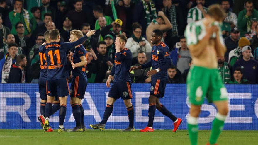 Copa del Rey: Los goles del Betis-Valencia (2-2)