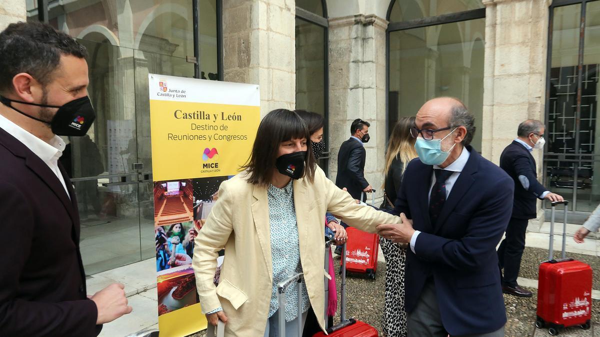 """El consejero Ortega durante la presentación de """"Mice Castilla y León"""""""