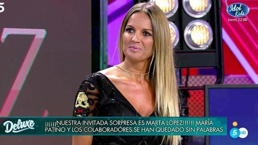 Marta López reaparece en 'Sábado Deluxe' tras ser despedida de Mediaset
