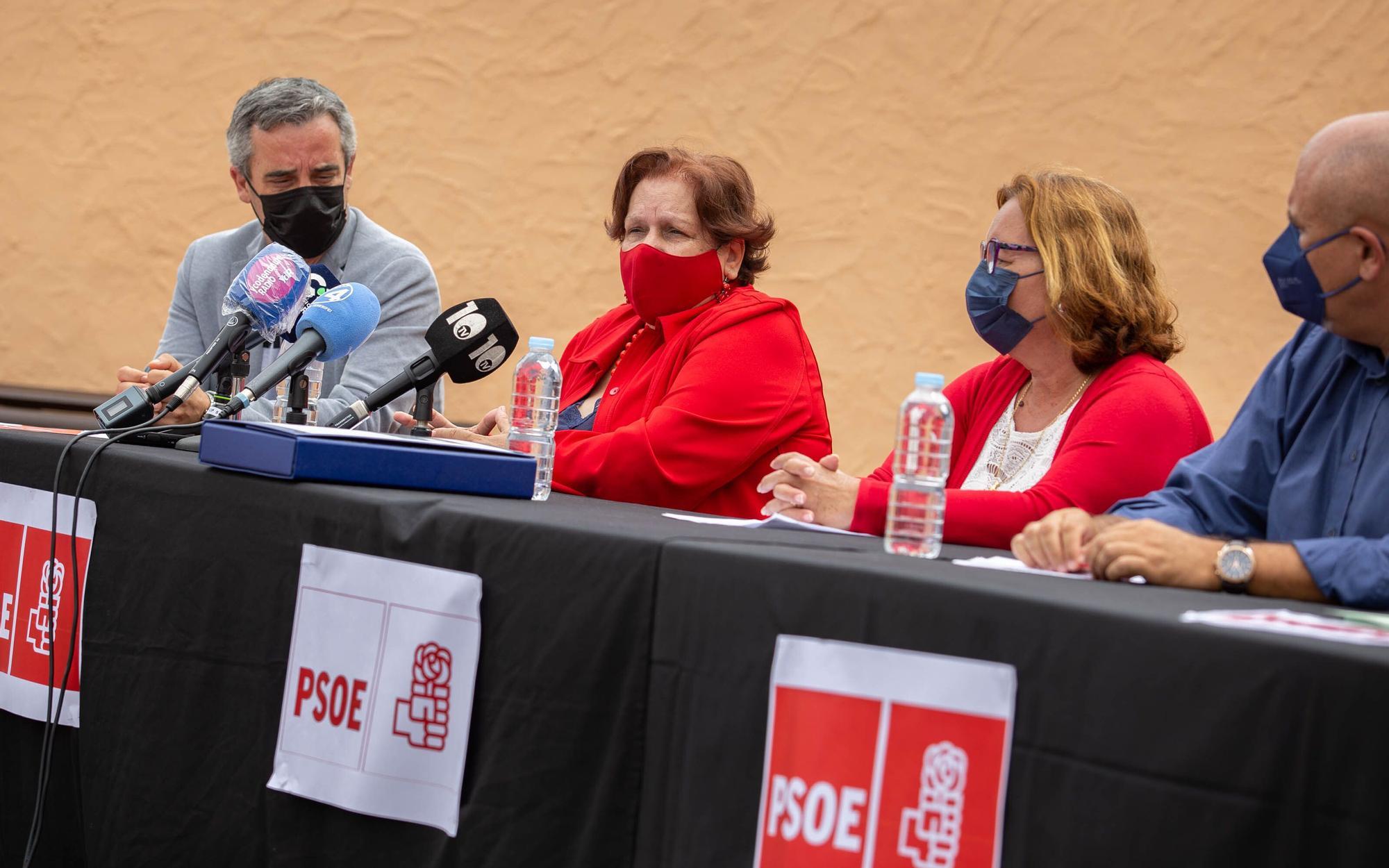 Rueda de prensa del PSOE en San Juan de la Rambla