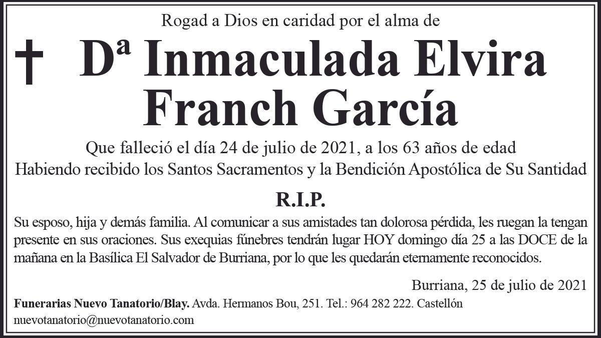 Dª Inmaculada Elvira Franch García