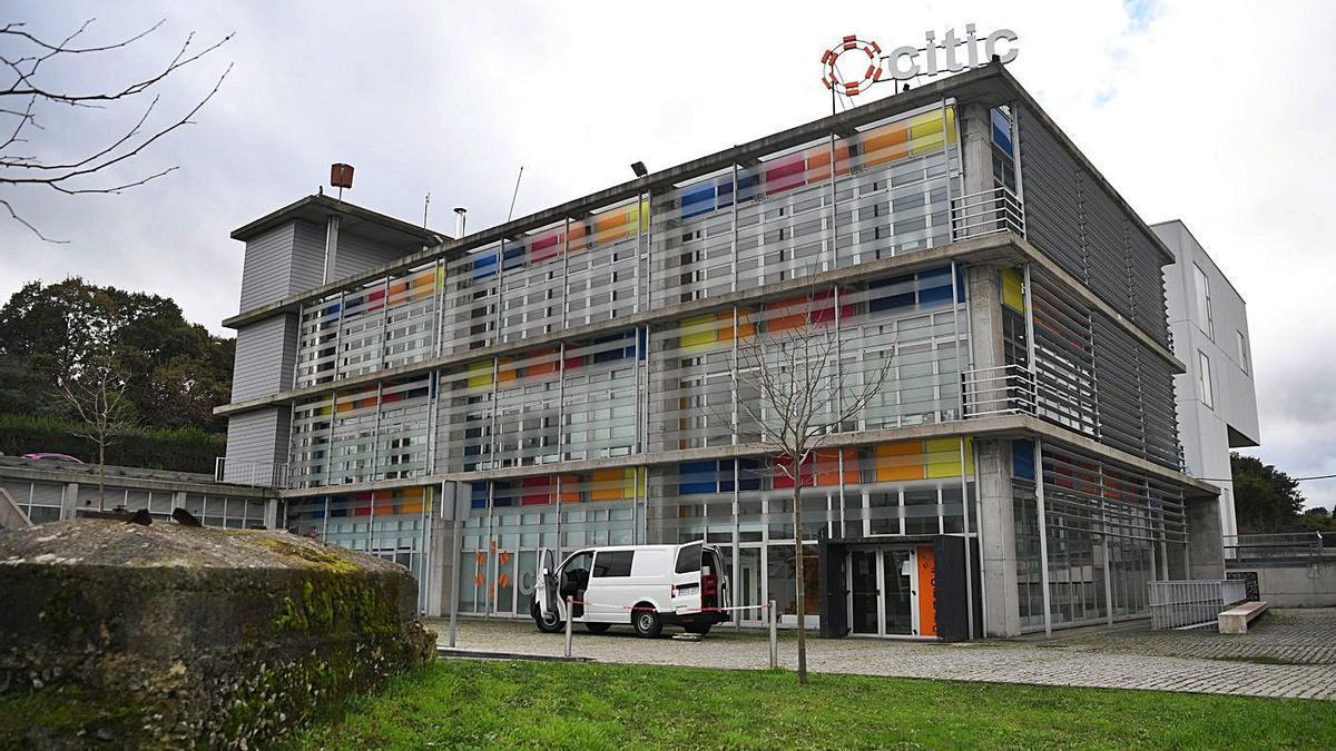 Instalaciones del Citic en el campus de Elviña.     // CARLOS PARDELLAS