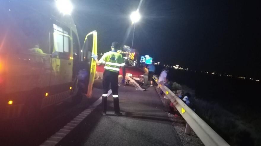 Seis heridos en un accidente de tráfico en la A-7 a la altura de Alhama