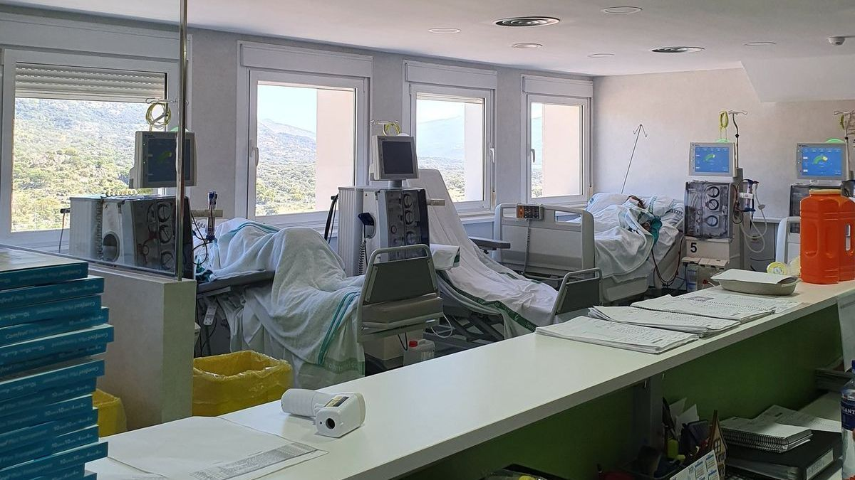 Vista de puestos y pacientes en la nueva unidad.