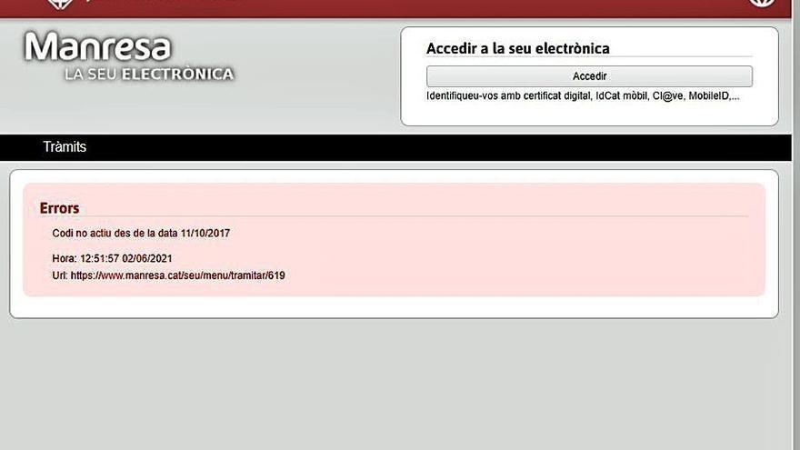 La web de l'Ajuntament no permet fer tràmits de participació via telemàtica