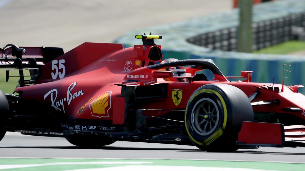 El piloto español, Carlos Sainz, en el circuito del GP de Hungría.