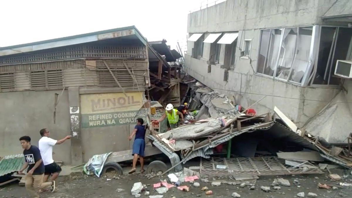 Imagen de archivo de un terremoto en Filipinas.