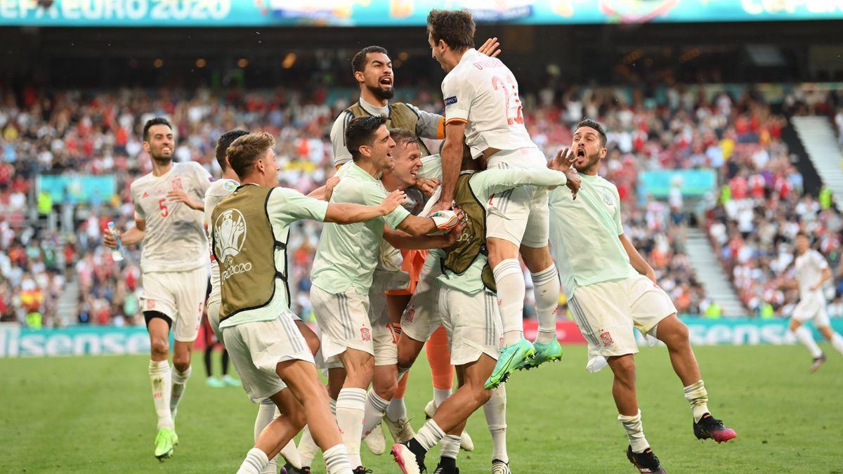Victoria de España ante Croacia en la Eurocopa 2020.