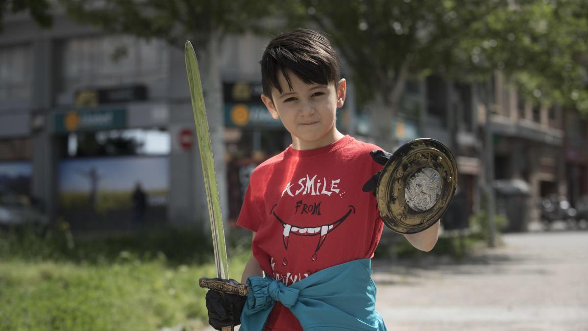 Sergi Bunea, amb la seva espasa  
