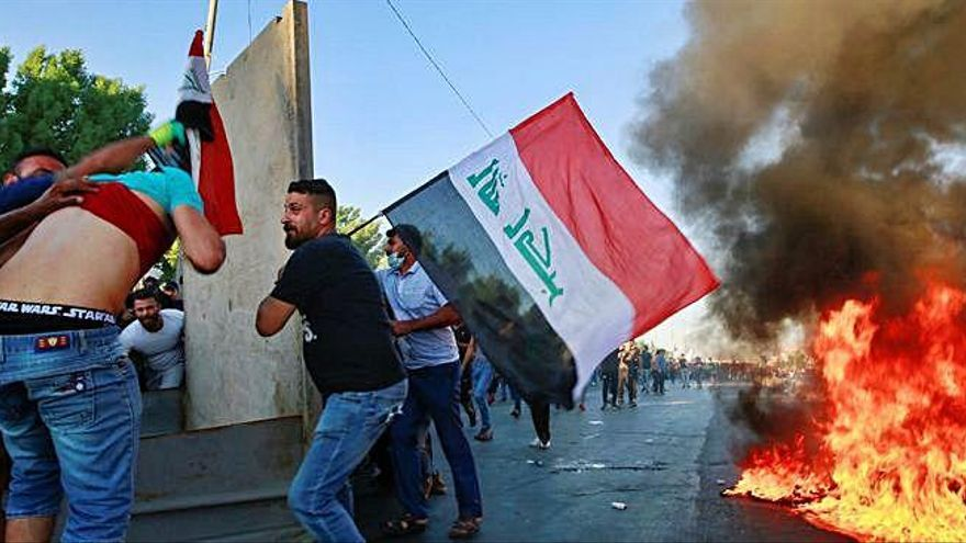 Cuatro días de protestas dejan ya 44 muertos en Irak